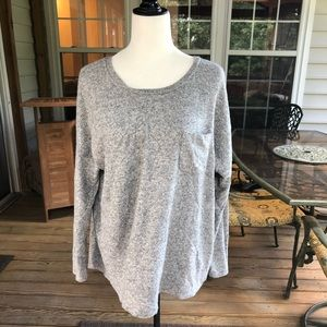 Merona gray long sleeve shirt